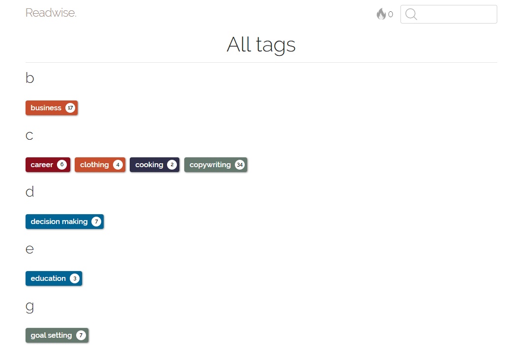 Readwise Tags Example