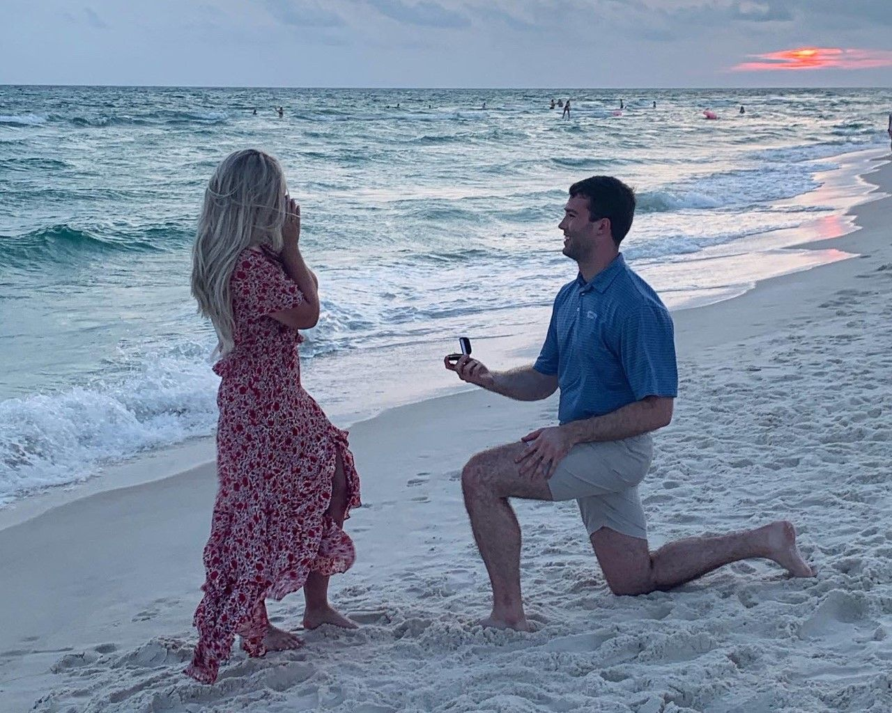 Getting engaged at the beach